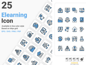 Online Learning Icon Pack preview picture