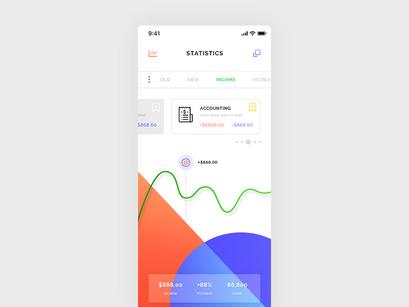 Wallet Statistics Dashboard, iOS App by Brice Séraphin
