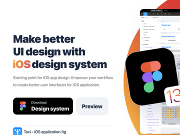 Figma - iOS Design system preview picture
