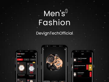 Men's Hand Watches Mobile App UI Kit preview picture