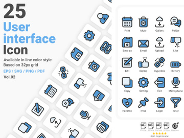 User Interface Icon Pack Vol.02 preview picture