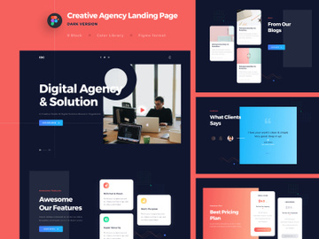 Creative Agency Landing Page DARK VERSION preview picture