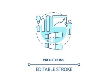 Predictions concept icon preview picture