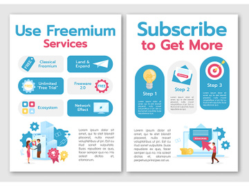 Use freemium services brochure template preview picture