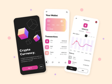 Cryptocurrency App Design preview picture