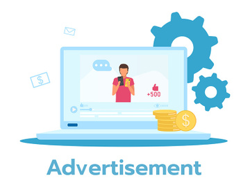 Advertisement flat vector illustration preview picture