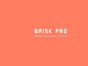Brisk Pro: Free font preview picture