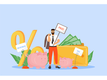 Payroll tax flat concept vector illustration preview picture