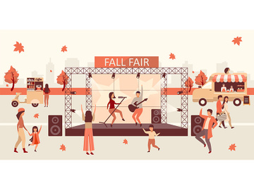 Fall fair flat vector illustration preview picture