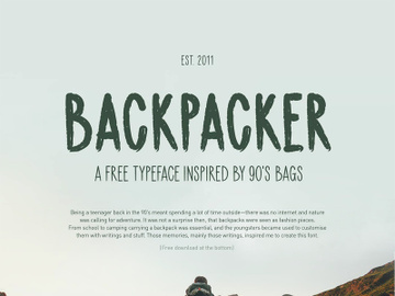 Backpacker Free Vector Typeface preview picture