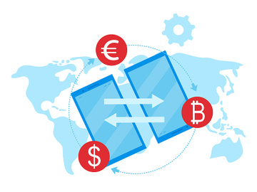 Money transfer flat vector illustration preview picture
