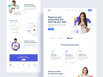 Zilo || Landing page preview picture