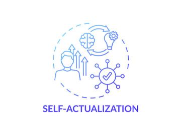 Self actualization blue gradient concept icon preview picture