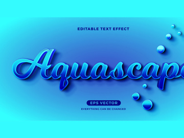 Aquascape editable text effect vector template preview picture