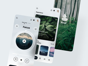Meditation App UI - Figma preview picture
