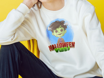 Halloween Vibes Png, Halloween PNG, kids halloween PNG, Halloween Sublimation preview picture