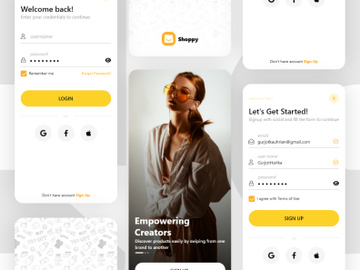 Shoppy App Ui Kit - 1 preview picture