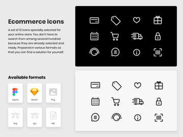 E commerce Icons preview picture