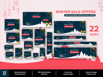 Winter Sale Web Ad Banners preview picture