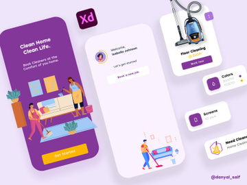 Cleaning App Template preview picture