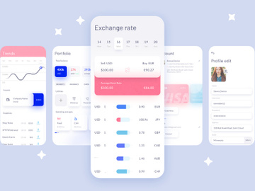 Blossom Fintech UI Kit preview picture