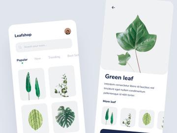 Leaf shop app concept preview picture