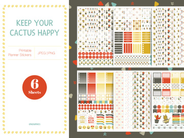 Keep Your Cactus Happy Planner Stickers preview picture