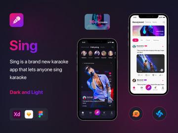 Social Karaoke Singing Mobile App preview picture