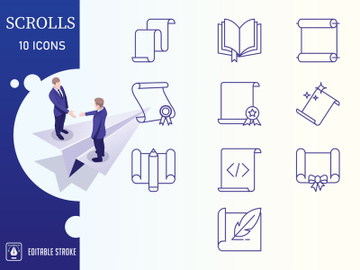 Outline : Scrolls Icon set preview picture