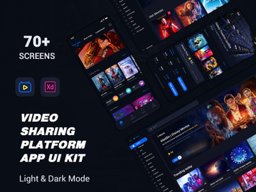 video sharing platform APP ui kit preview picture