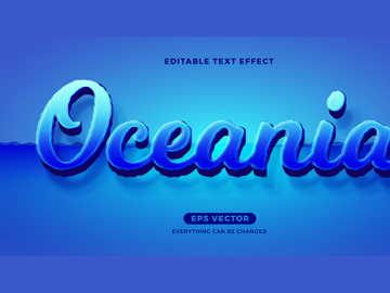 Oceania editable text effect vector template preview picture