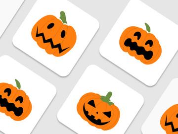 Orange pumpkin set vector for Halloween season. preview picture