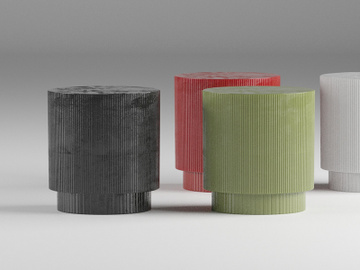 Fluted Nightstand 3D Model preview picture