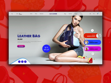 Leather Bag-style-Landing Page preview picture