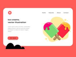 Ice cream icon vector illustration. preview picture