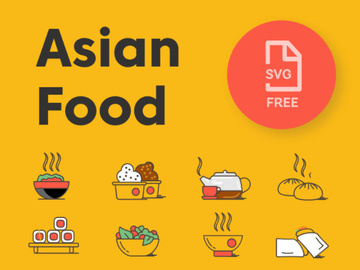 Asian Food Icon Pack preview picture