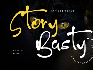 Story Basty Quirky Handwritten Font preview picture