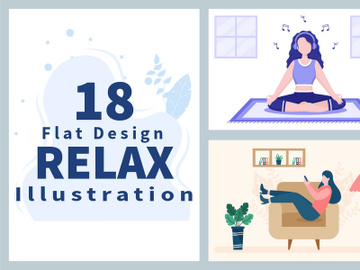 18 Relax at Home Vector Flat Illustration preview picture