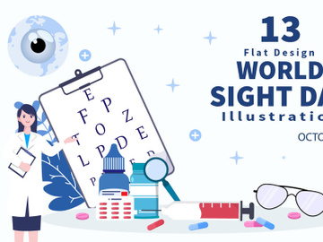 13 World Sight Day Eye Vector Illustration preview picture