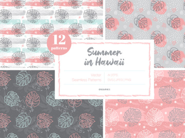 Summer in Hawaii Vector Patterns preview picture