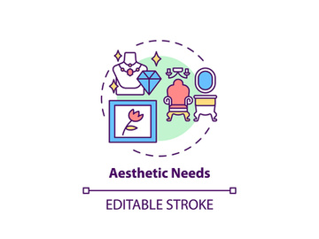 Aesthetic needs concept icon preview picture