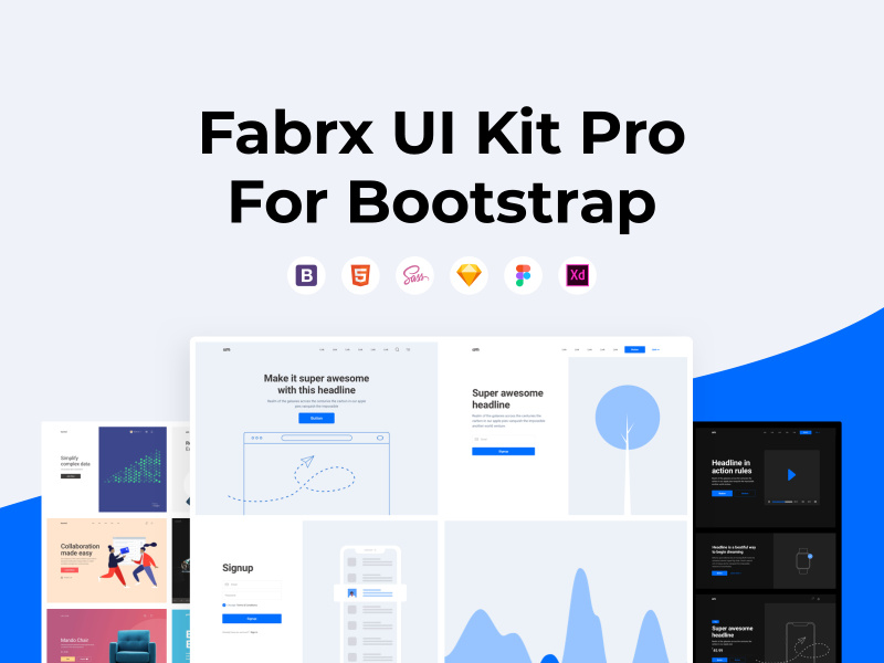 Fabrx UI Kit Pro for Bootstrap preview picture