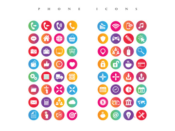 Mobile and Phone Icon set preview picture