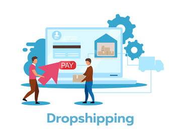 Dropshipping flat vector illustration preview picture