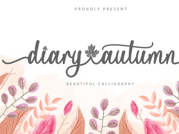 Diary Autumn Script Font preview picture