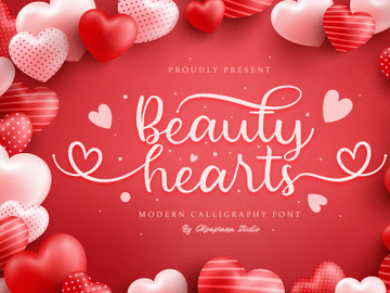 Beauty Hearts - Modern Calligraphy Font preview picture