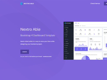 Nextro Able Bootstrap Admin Template preview picture