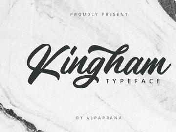 Kingham - Script Font preview picture