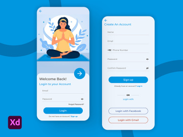 Meditation App Signup Screens preview picture