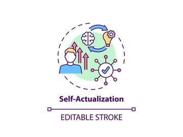 Self actualization concept icon preview picture